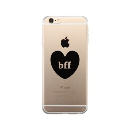 BFF Hearts-Right Best Friend Matching Clear iPhone 6 Phone (Best Phone Psychics Reviews)