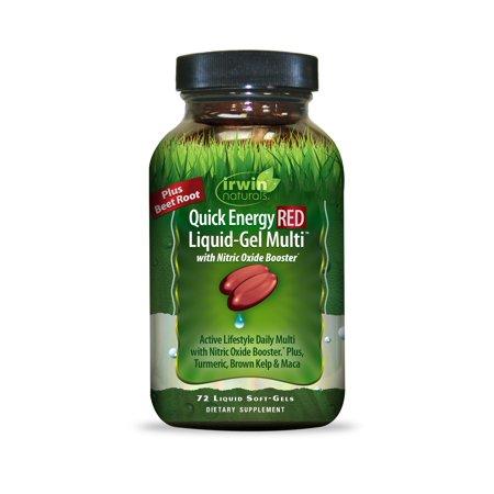 Irwin Naturals Quick Energy RED Liquid-Gel Multi Softgels, 72