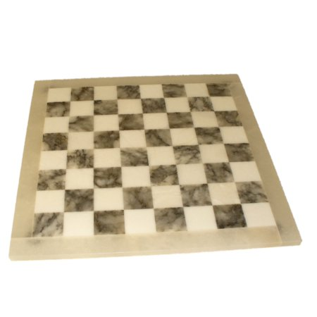 Grey & White Alabaster Chess Board