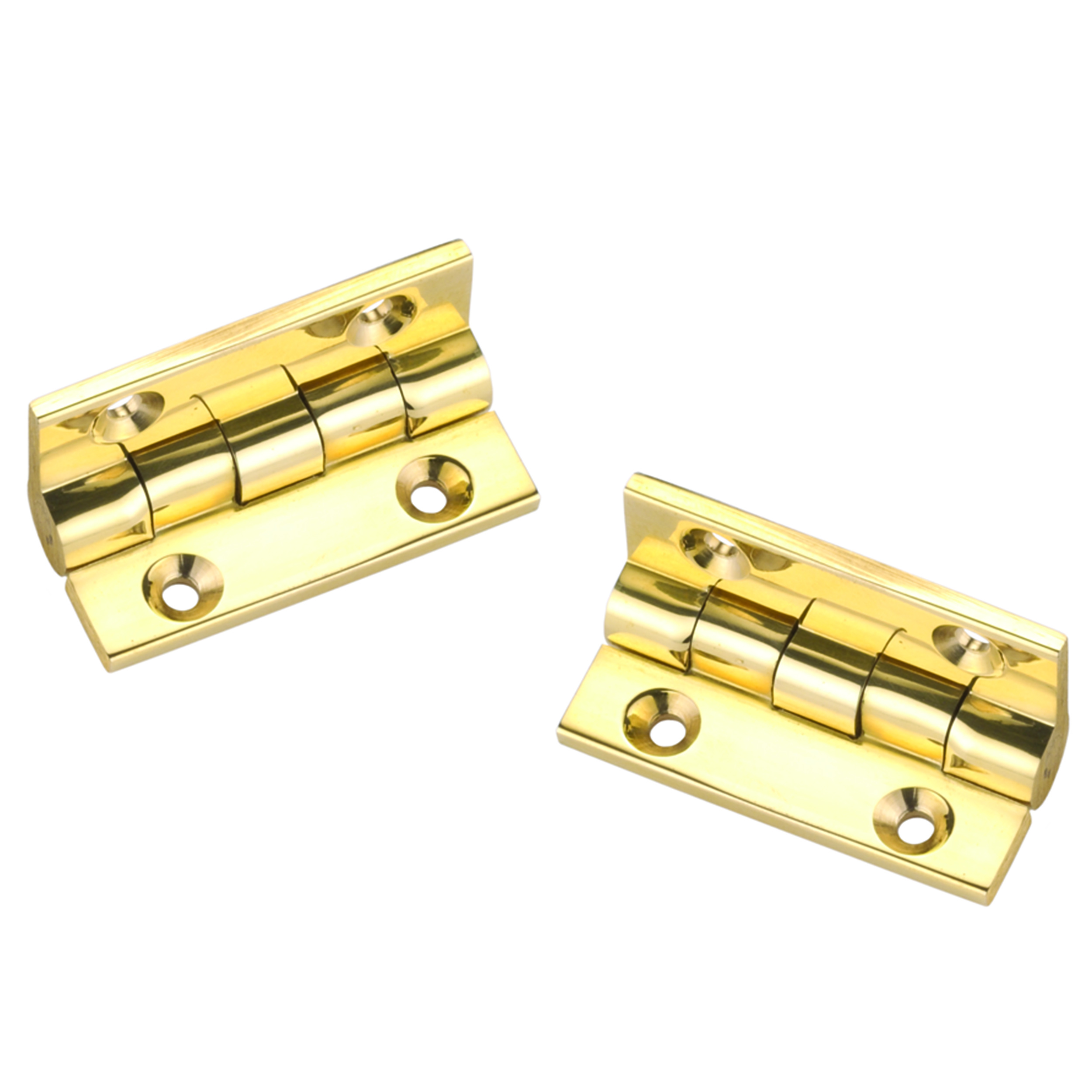 "Stop Hinge Polished Brass 1-1/2"" X 1-1/8"" Pair"