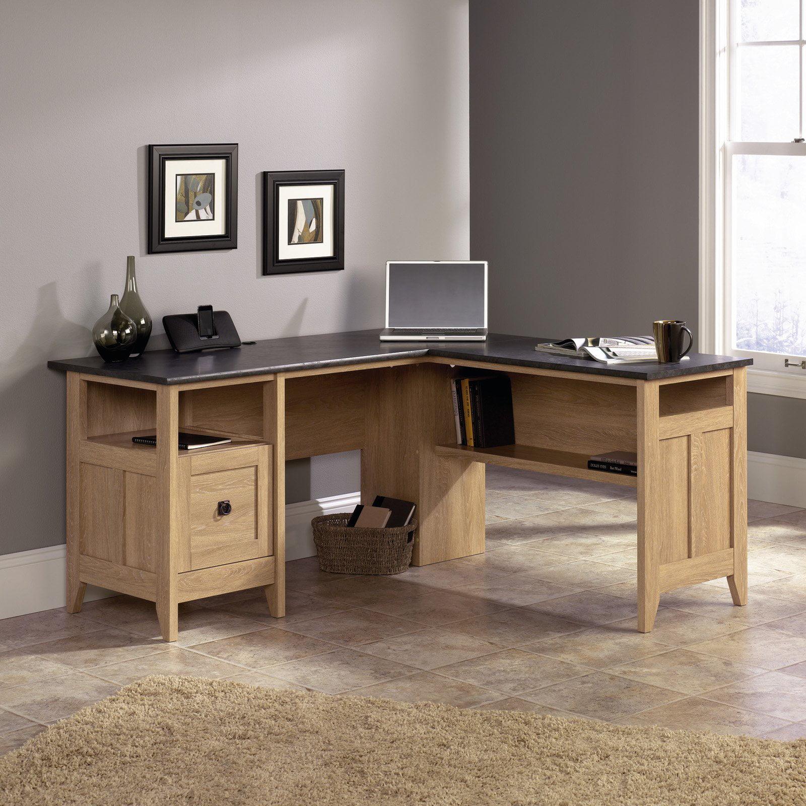 Sauder August Hill L-Desk, Dover Oak by Sauder Woodworking