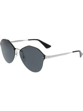 54096ebb00e7 Product Image Prada Women s Anti-reflective PR64TS-1BC5S0-66 Black Aviator  Sunglasses