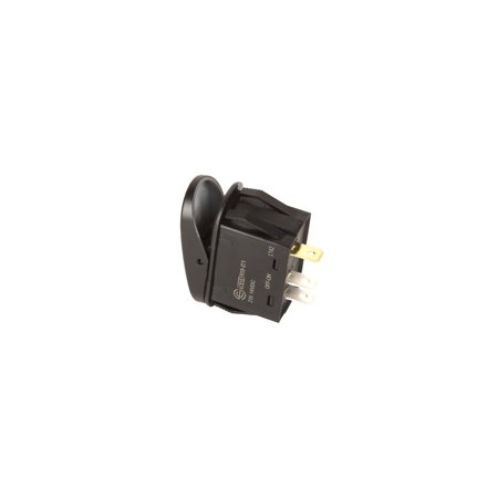 "Rugged Ridge 17235.14 Multi Purpose Switch  20 Amp Design; Rocker Switch; Oval; Illuminated; Black; With ""Lighted Whip"" and Flag Logo - image 1 of 2"