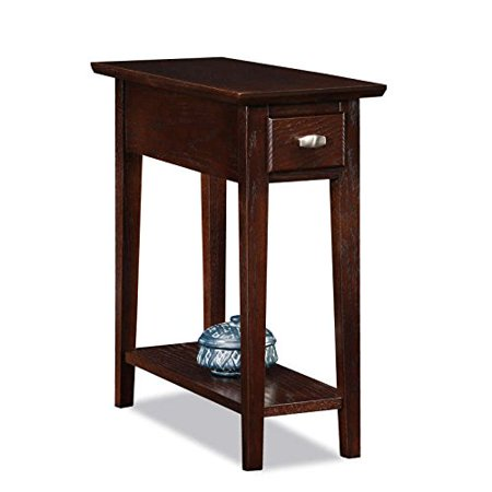 Modhaus Living Modern Oak Room Narrow Nightstand Rectangle Wooden Brown Recliner Chair Side Table With
