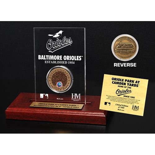 Baltimore Orioles Infield Dirt Coin Etched Acrylic - No Size