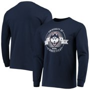 Men's Navy UConn Huskies Circle Long Sleeve T-Shirt