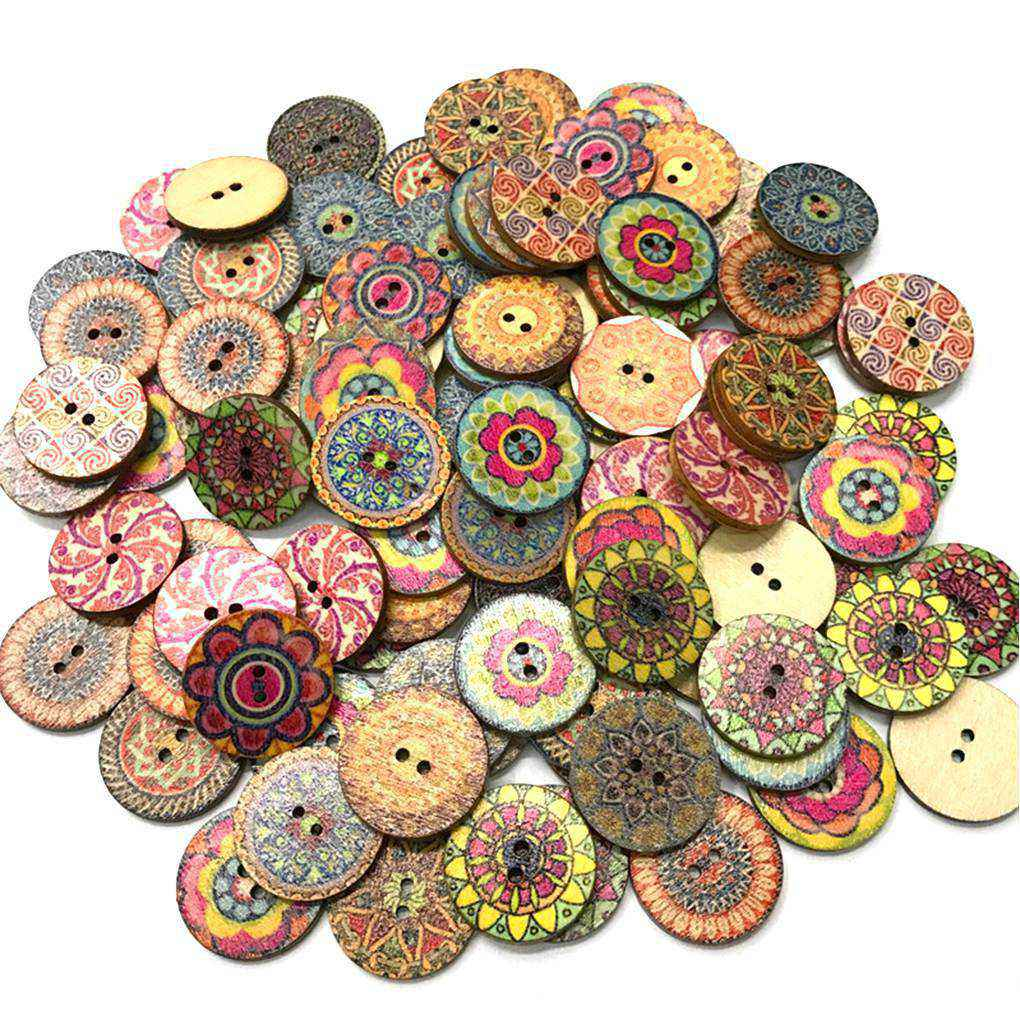 Flower buttons 2 hole size 15mm various colours ideal for clothing//craft