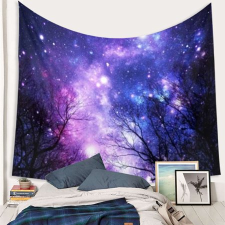 Cotton Vintage Tapestry (Meigar Tapestry Wall Hanging Wall Tapestry 60''x50'' Galaxy Forest Tapestry the Star Tapestry Psychedelic Tapestry Vintage Tapestry Home Decor)