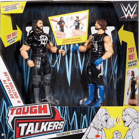 Aj Styles   Seth Rollins   Wwe Tough Talkers 2 Packs Series 2 Toy Wrestling Action Figures