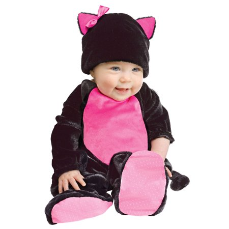 Black Pink Cat Baby Animal Infant Girl Halloween Costume