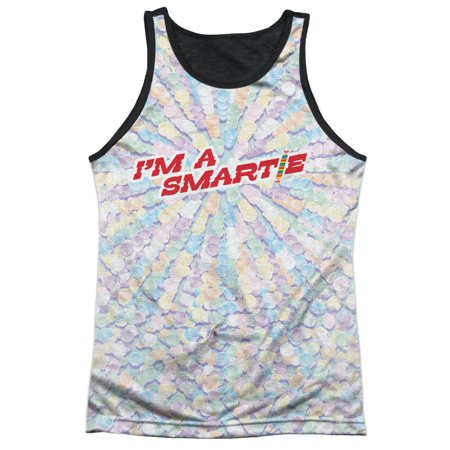 Smarties Colored Sugar Candy Rolls I'm A Smartie Adult Black Back Tank Top - Colored M And M Candy
