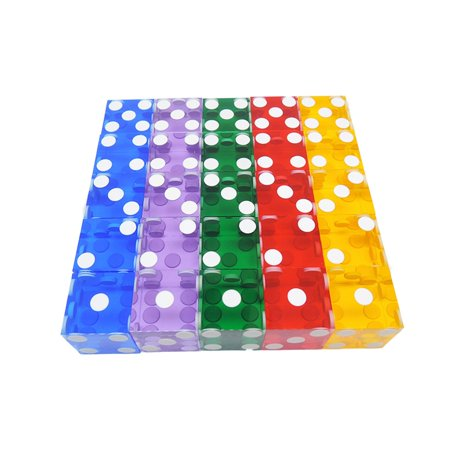 5 Pieces Top Grade 19mm Casino Dice With The Edges And Serial Numbers Translucent Clear D6 Dice Real Dice - image 7 de 7
