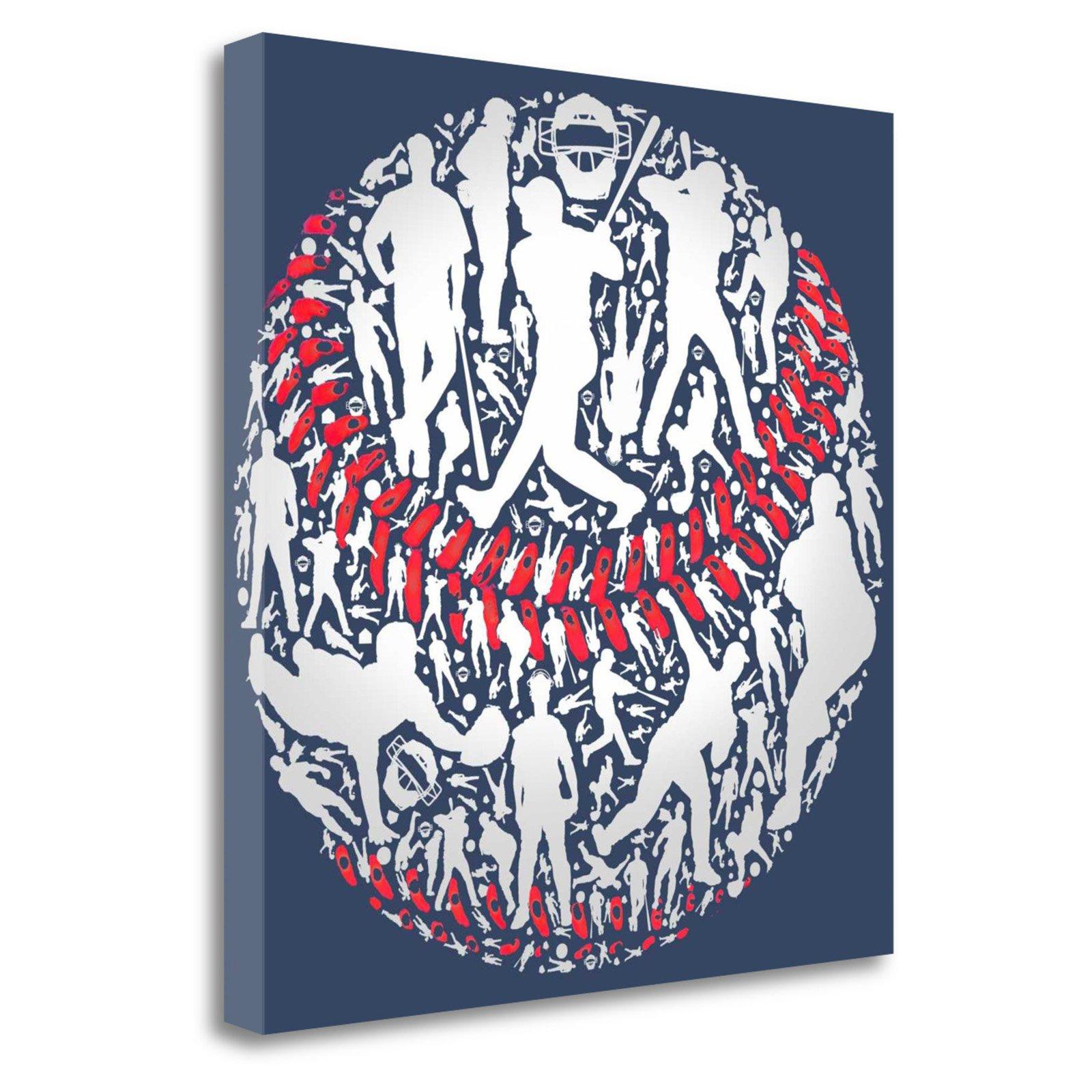 Tangletown Fine Art Baseball Ball By Jim Baldwin