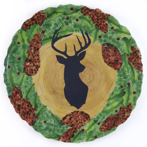 Encore Concepts Timberline Stag/Wreath Platter