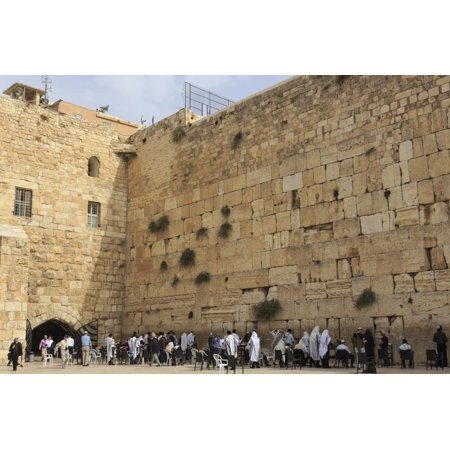 Men's Section, Western (Wailing) Wall, Temple Mount, Old City, Jerusalem, Middle East Print Wall Art By Eleanor Scriven (Jerusalem Old City Map)