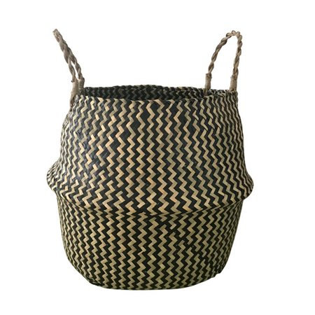 Plant Basket,Bestller 11''x9'' Foldable Rattan Straw Basket Flower Pot Hanging Wicker Storage Basket Garden Accessories ()