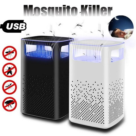 Photocatalyst USB Inhaled Mosquito Killer Lamps Bionic Purple Light Wave Physical Insect Repelling Lamp for Bedroom Living Room(3.9x3.9x7 inch)