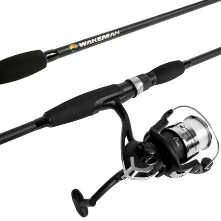 Strike Series Spinning Fishing Rod and Reel Combo - Fishing Pole by Wakeman (Vintage Fishing Pole)