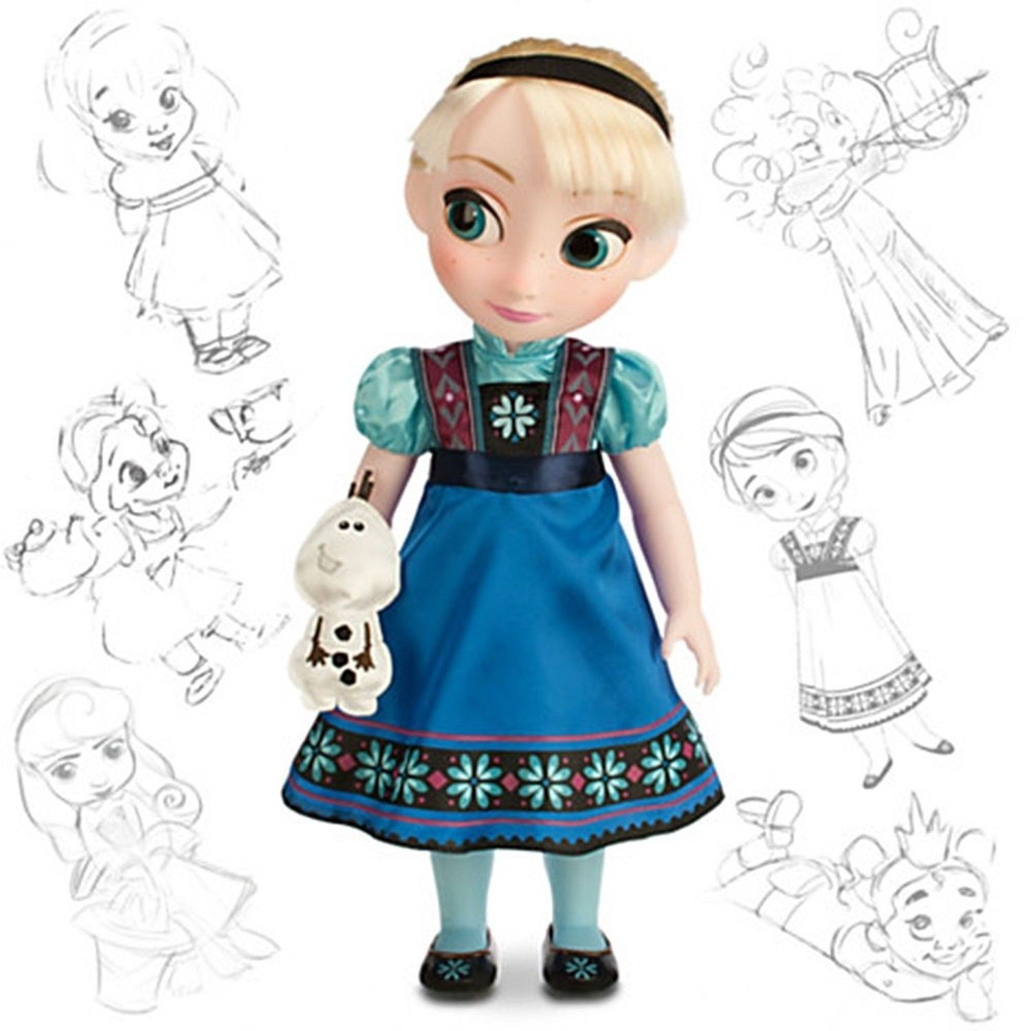Disney Animators Collection Elsa Doll Holding Olaf