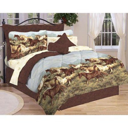 Pdk Thunder Run Horse Themed Bed In A Bag Comforter Set