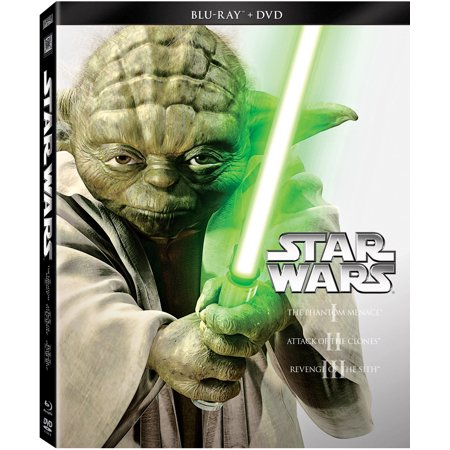 Star Wars Trilogy: Episodes I-III (Blu-ray + DVD) for $<!---->