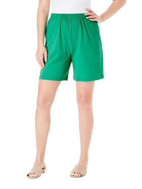 Roaman's Women's Plus Size Soft Knit Short