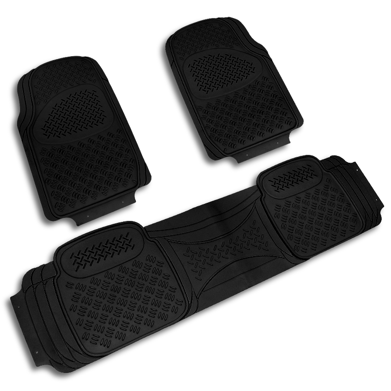 Black All Weather Heavy Duty Jeep Suv 3D Pvc Rubber Floor