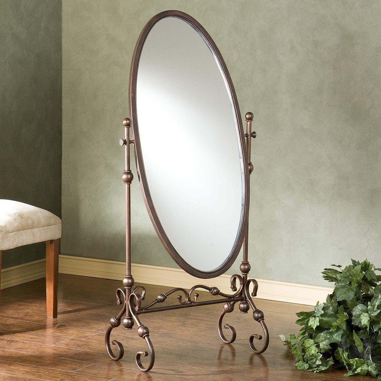 Lourdes Full Length Metal Cheval Mirror 24W x 56.75H in. by Southern Enterprises