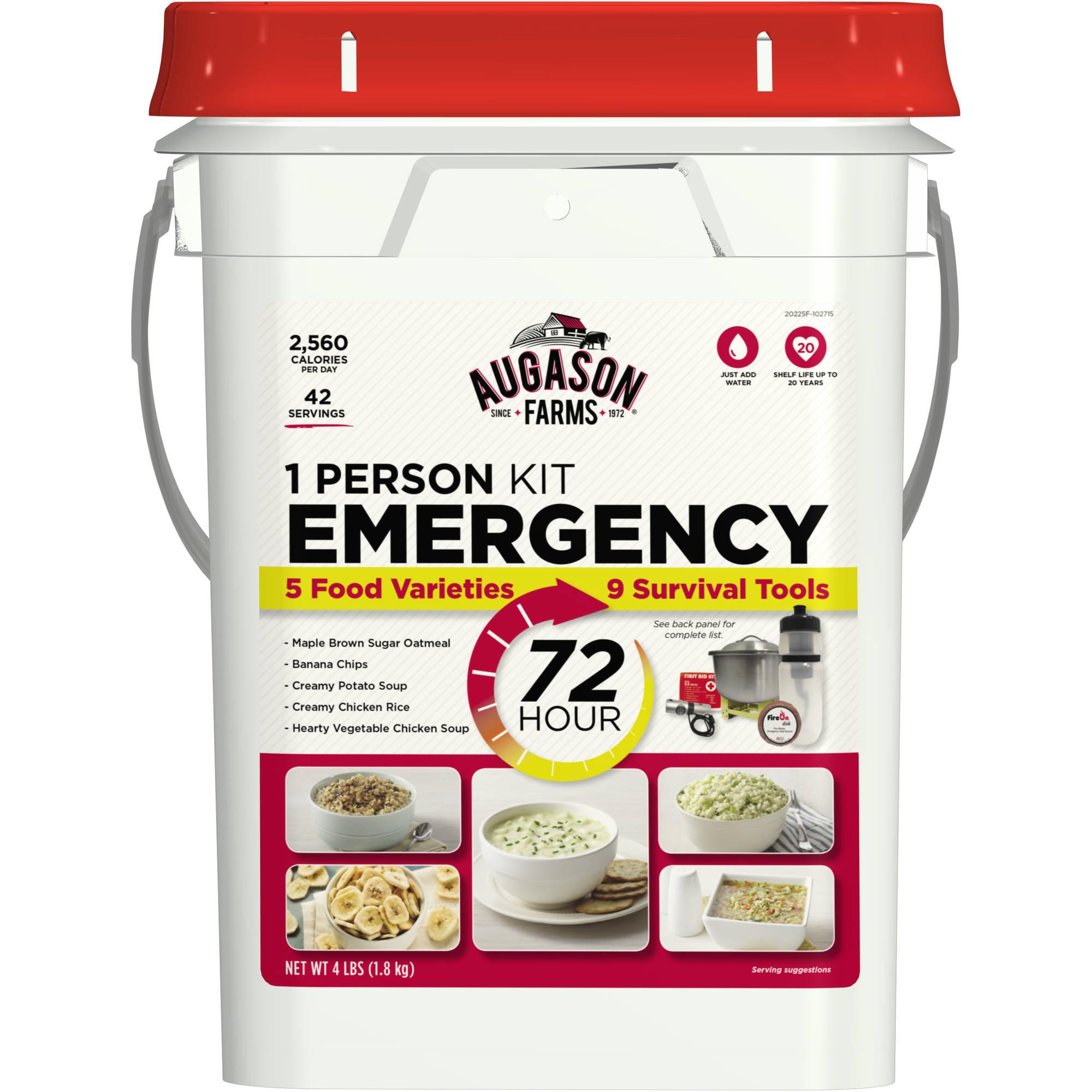 Augason Farms 72 Hour 1 Person Emergency Kit, 4 lbs
