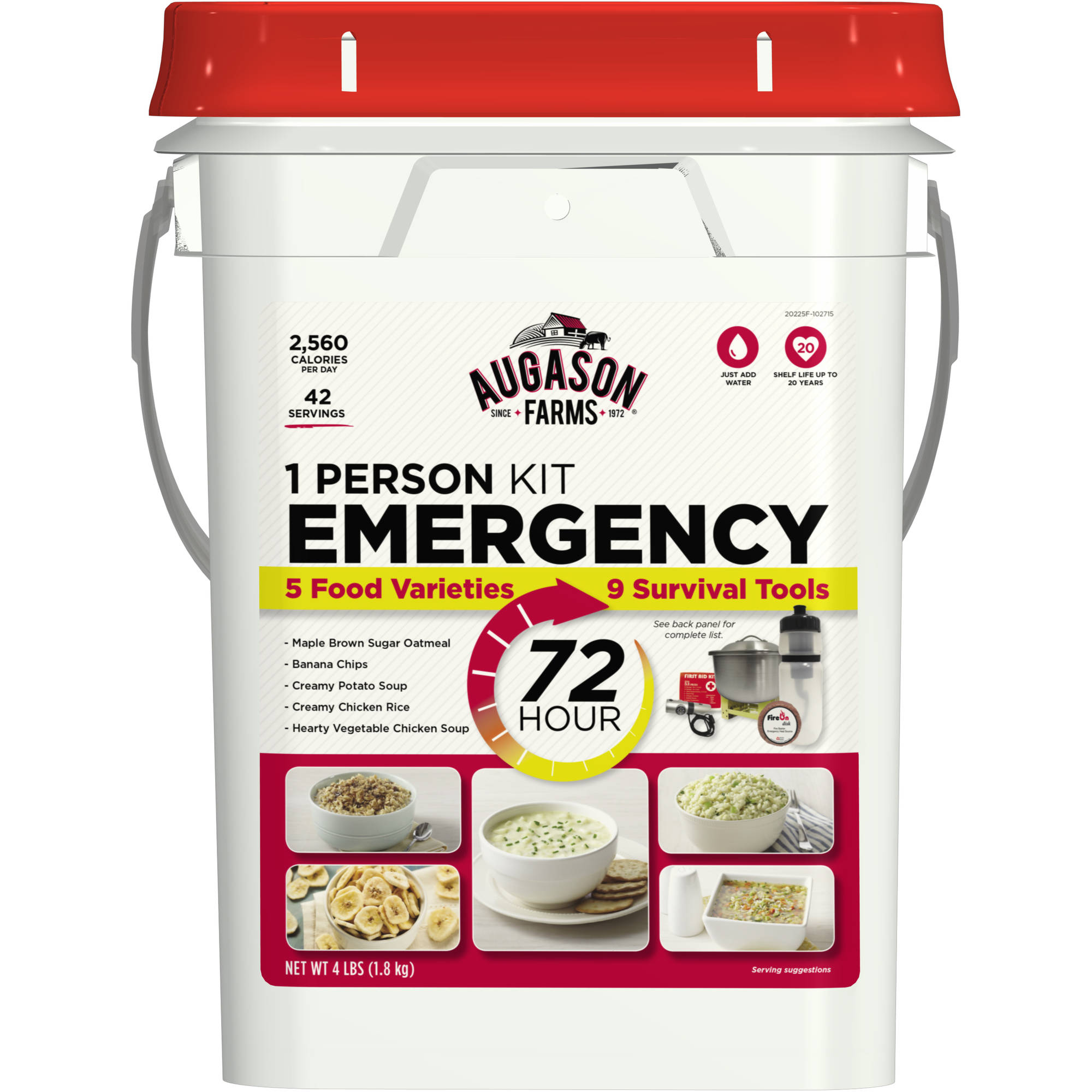 Augason Farms 72 Hour 1 Person Emergency Kit, 4 lbs