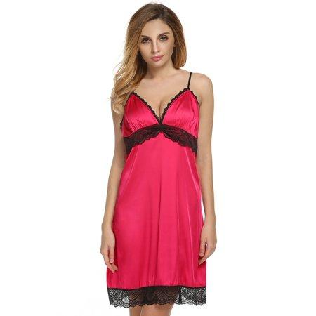 Night Slip - Women Lace Slip Chemise Nightgown Sleepwear underwear Night  Dress 18d56a2f9