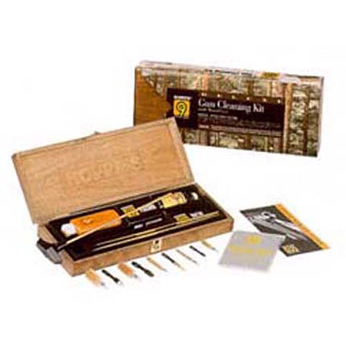 Hoppe's BUOX Deluxe Gun Cleaning Kit In Wood Box