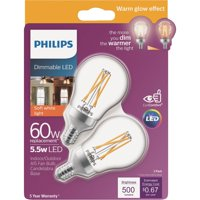 Philips Warm Glow A15 Candelabra Dimmable LED Light Bulb