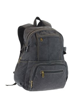 546cfb06587 Product Image Canvas Backpack with 15.6 Laptop Sleeve and 3 Front Zip  Pockets