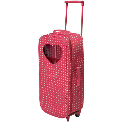 "Badger Basket Trolley Doll Travel Case with Rocking Bed and Bedding, Star Pattern, Fits Most 18"" Dolls & My Life As"