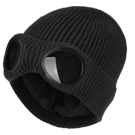 be553e18c Winter Knitted Hat-Fitbest Unisex Mens Womens Winter Knitted Hat Sports  Warm Beanie Skull Cap with Removable Glasses and Plush Lining for  Travelling ...