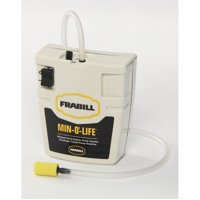Frabill Fishing Whisper Quiet Portable Aeration System for Bait Buckets, Small, White