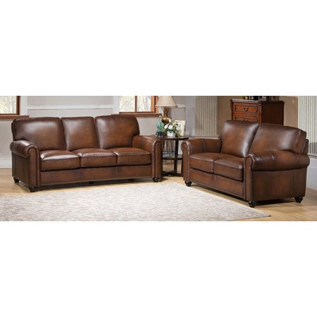 Amax aspen 2 piece leather living room set 2 piece leather living room set