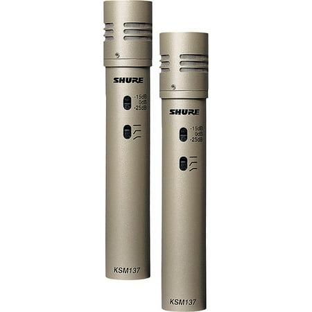 Shure KSM137/SL STEREO Cardioid Condenser (Stereo Pair) Champagne Matched Pair Cardioid Condenser