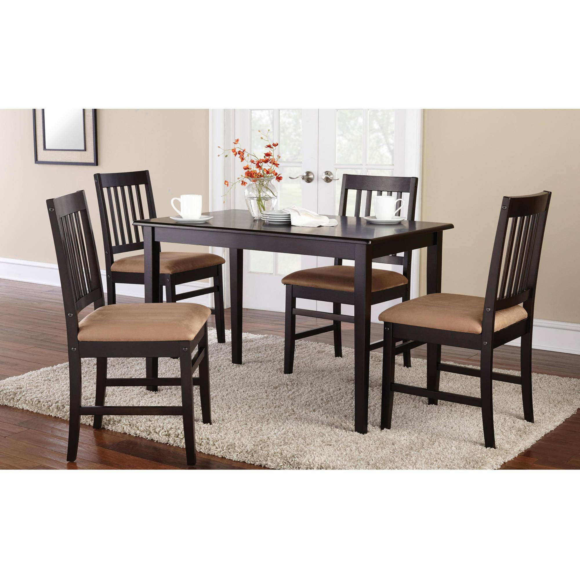 Mainstays 9 Piece Dining Set, Espresso   Walmart.com