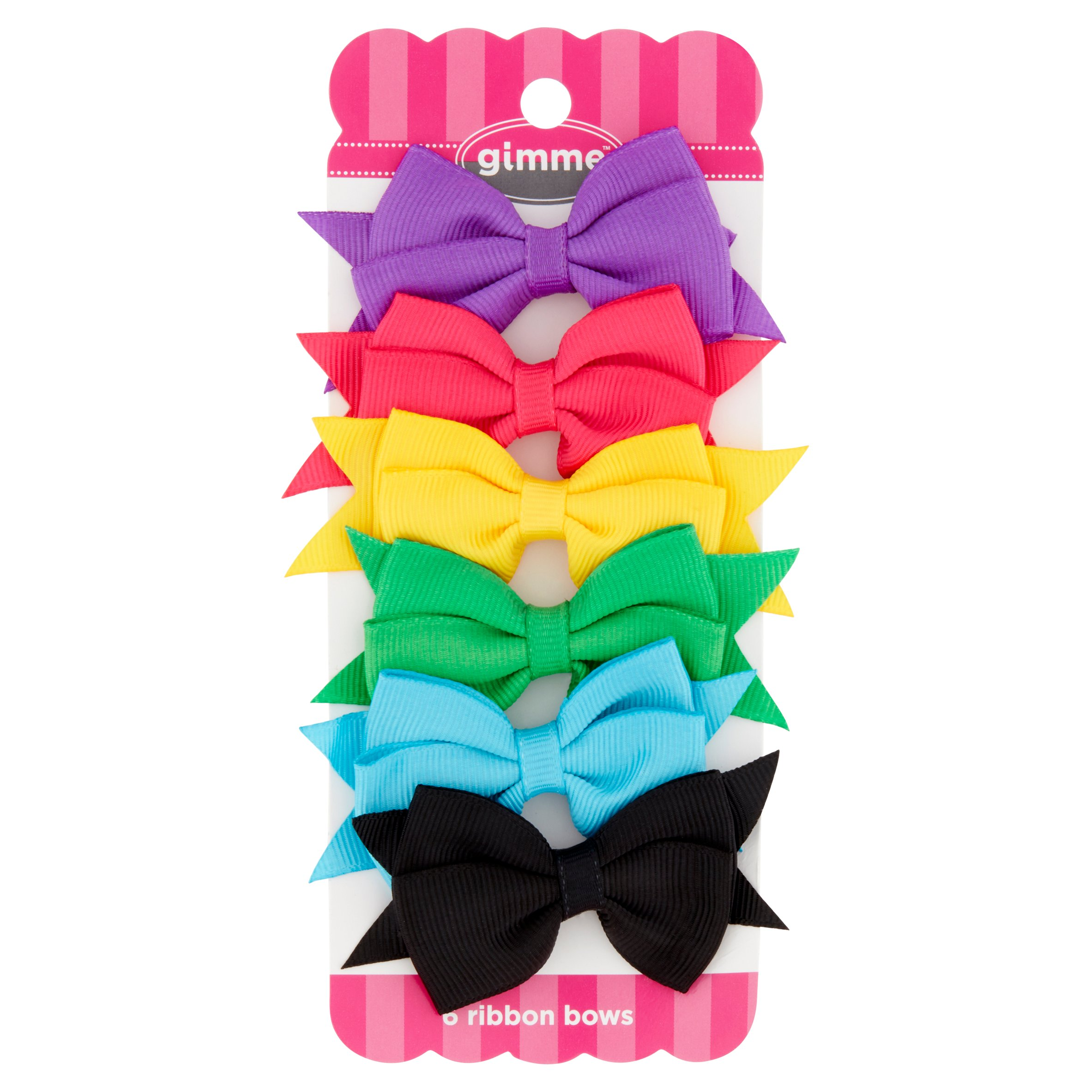 (2 Pack) Gimme Ribbon Bows, 6 count