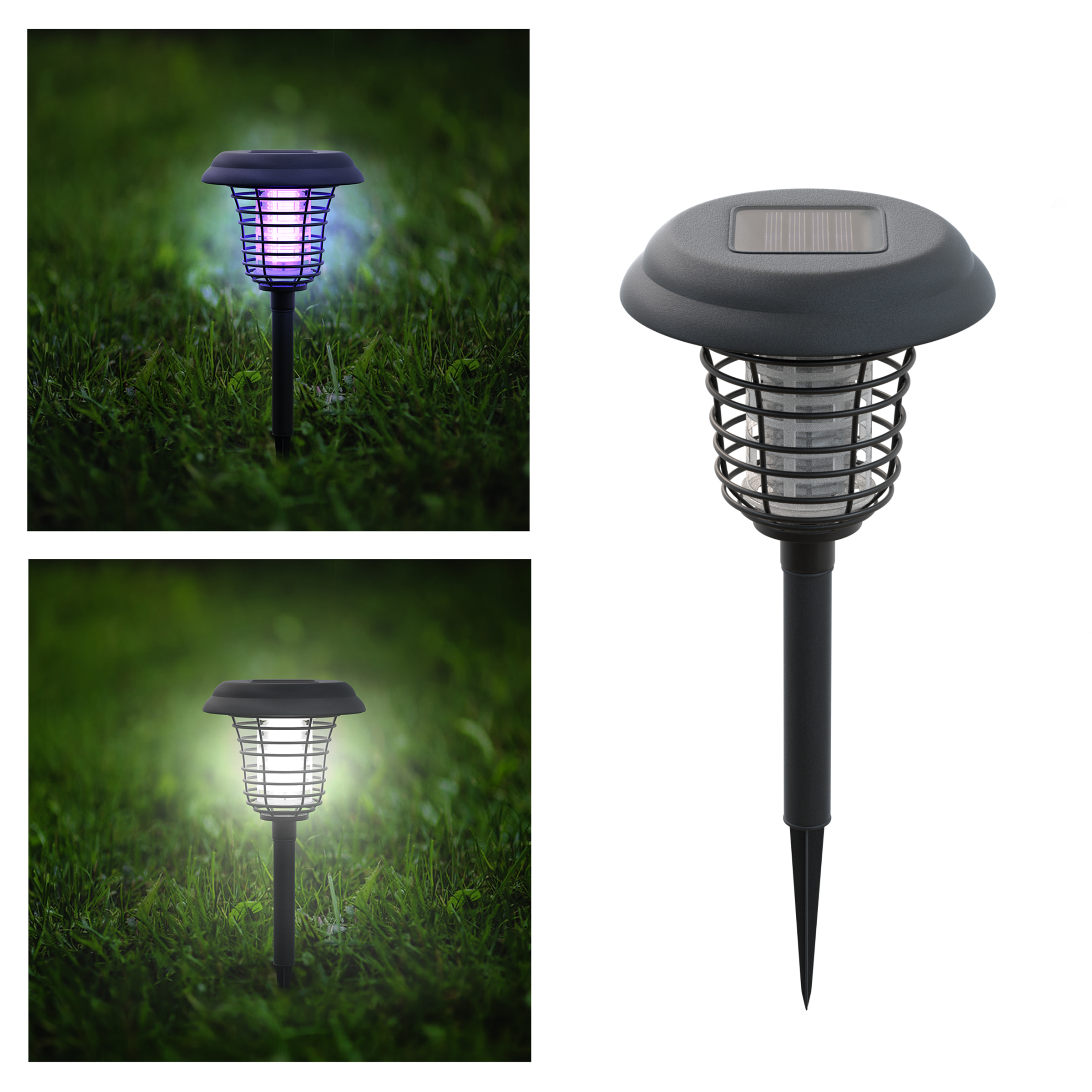 Superieur Solar Powered Light, Mosquito And Insect Bug Zapper LED/UV Radiation  Outdoor Stake