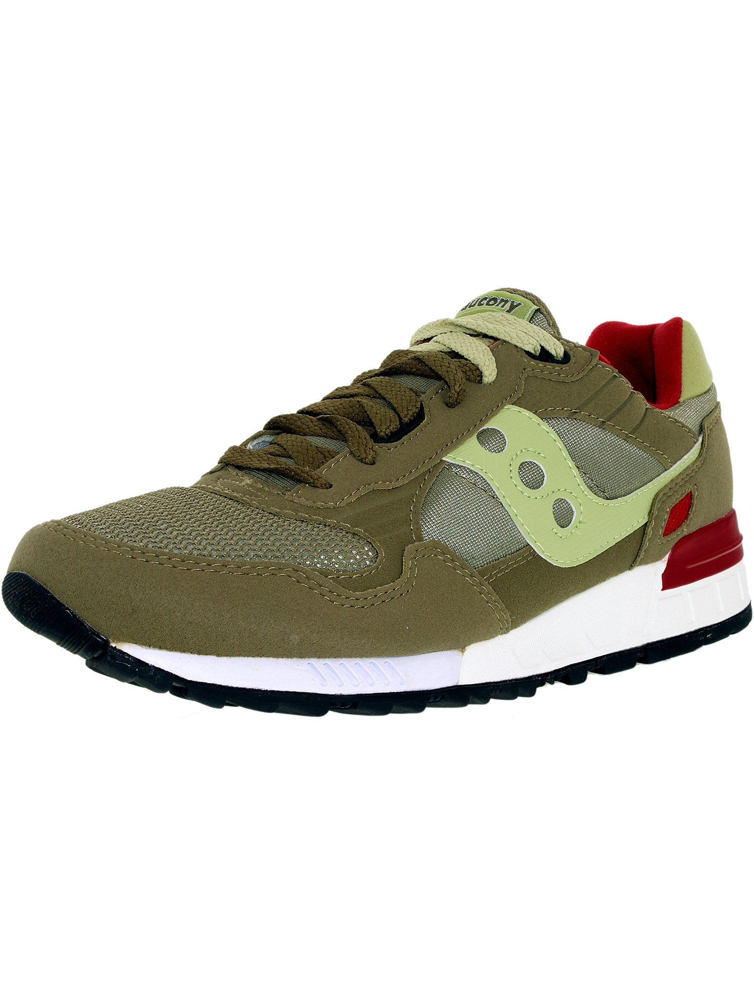 Saucony Women's Shadow 5000 Olive Ankle-High Leather Fashion Sneaker - 10M