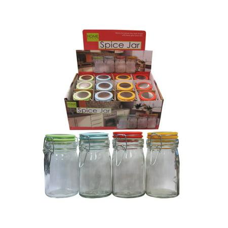 Locking Glass Spice Jar Countertop Display (Pack Of - Jar Countertop