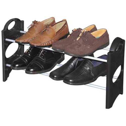 Sunbeam 2-Tier Shoe Rack, Black