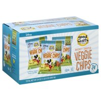 Good Health Veggie Chips, Disney Mickey Shaped 24 Count 1 oz. Bags