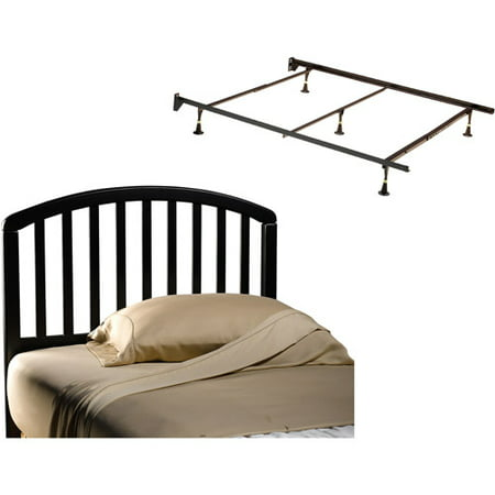 Carolina Full/Queen Headboard and Bed Frame, Black ()