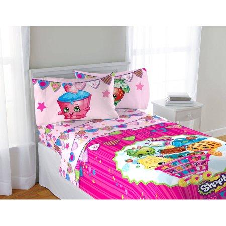 Shopkins Pink Kids Bed Sheets Set