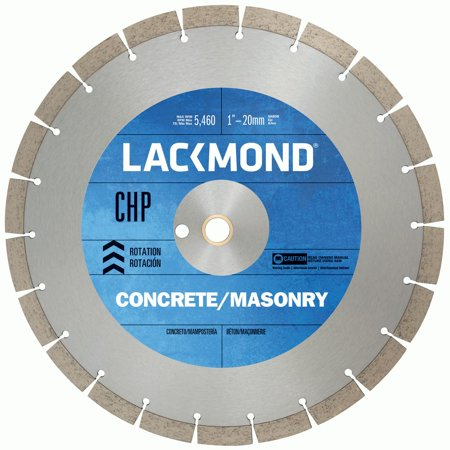 Lackmond CHP Series Dry Cut Diamond Blade for Cured Concrete, 16-Inch by .125 by 1-Inch by (Concrete Blade)