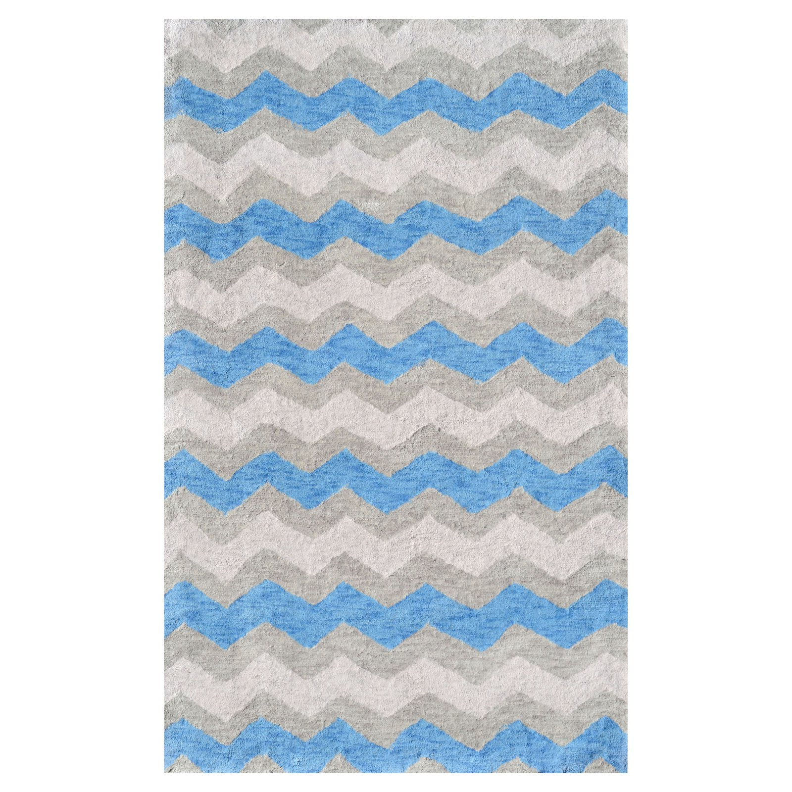 The Rug Market Ziggy-Blue Area Rug, 2.8' x 4.8'